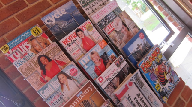 A wide range of magazines and newspapers