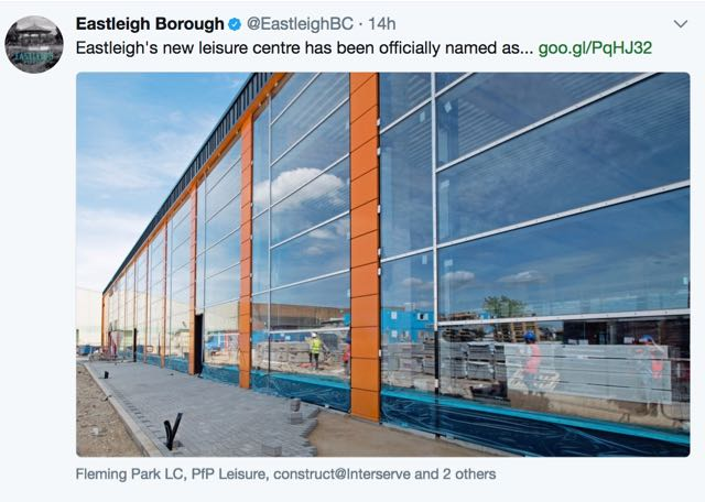 Guess the name of Eastleigh's new leisure centre is...?