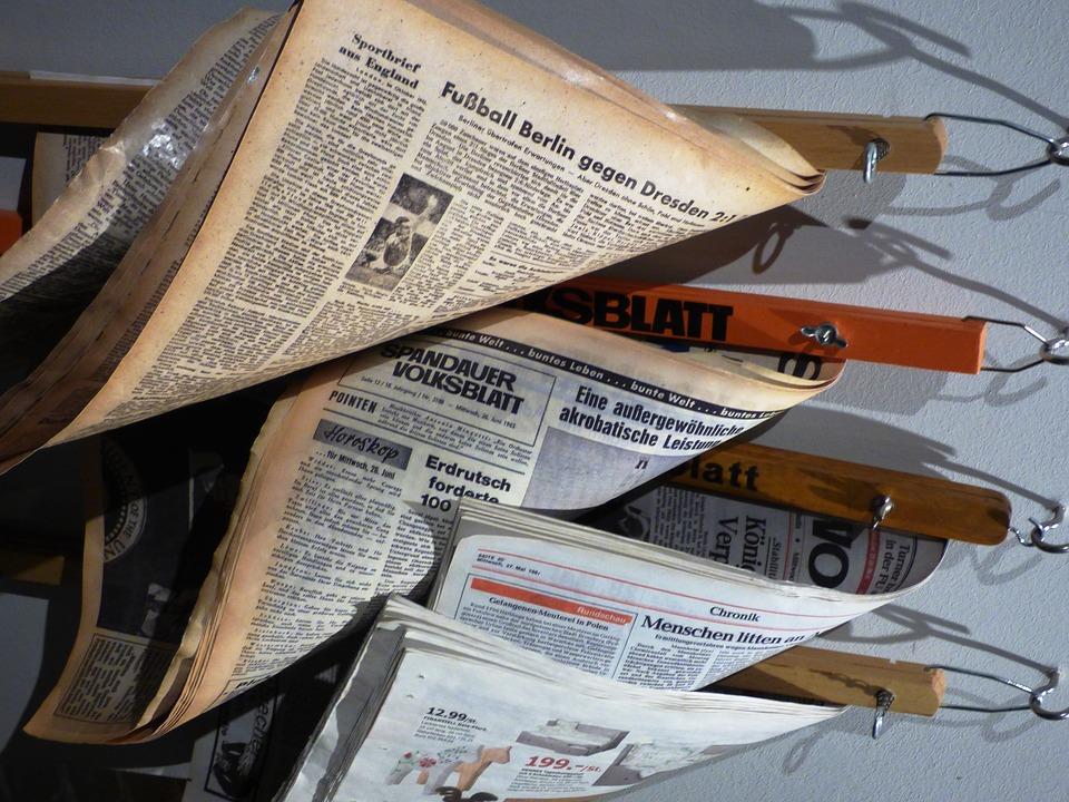 German newspapers - image via Pixabay
