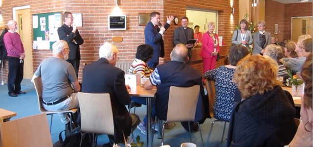 """3, 2, 1, New Dovetail, Opened!"" Steve Brine MP re-opened the Dovetail Centre (with a virtual ribbon)."
