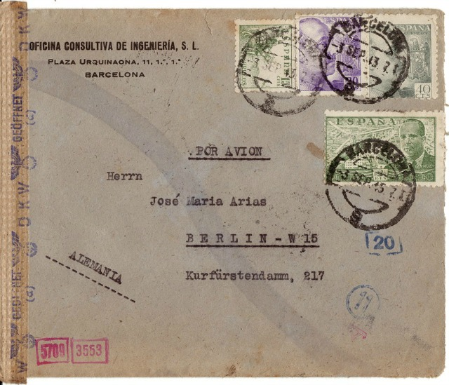 Note the dates on the postmarks - clear censorship - image via Pixabay