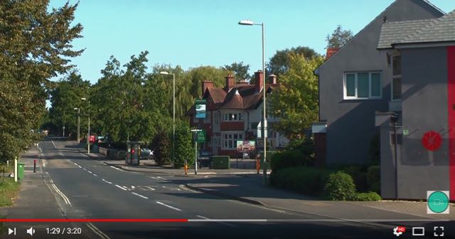 Hursley Road filmed by Jack. I'm not it's not 8am on a Monday morning!