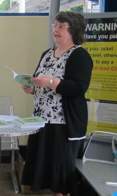 I read some of my flash fiction at my signing at the railway station in July and did so again at the Fair last weekend.