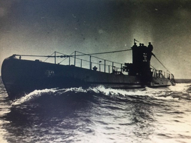 A German U-Boat the scourge of the North Atlantic and my father's quarry. Image via Graham MacLean.