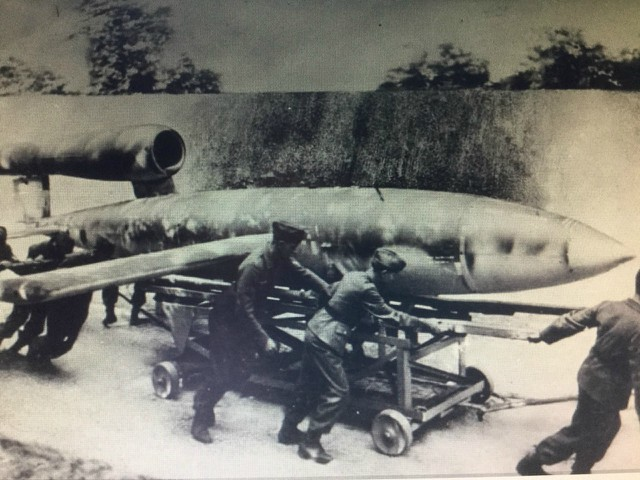 A Doodlebug self propelled or flying bomb. Image supplied by Graham MacLean