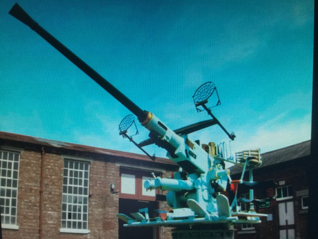 Bolors 40mm LAA Gun - A battery of 3 on Velmore Farm. Image supplied by Graham MacLean.