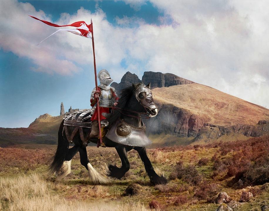 Richard III did kill Henry Tudor flag bearer and almost got Henry himself - image via Pixabay