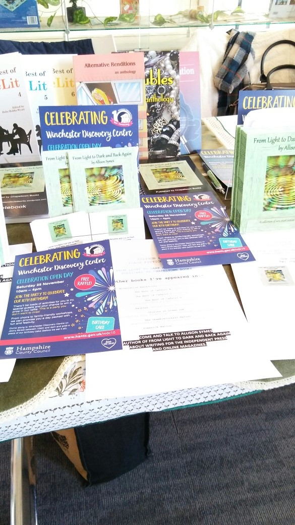 Another view of my stand plus leaflets sharing what it is all about