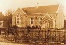Chandler's Ford Congregational Church now the URC in King's Road - image via Eastleigh and District Local History Society