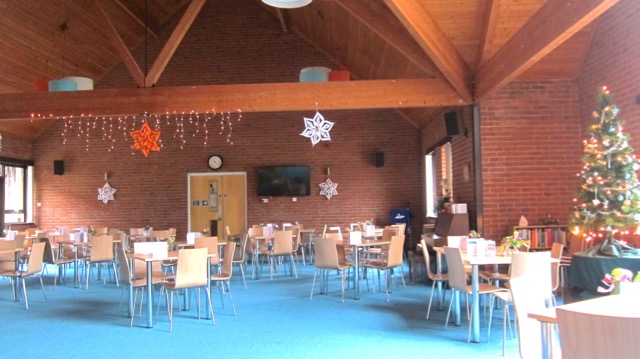 Christmas decorations at the Dovetail Centre