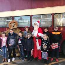 Brambridge Garden Centre - Santa, Eastleigh Lions, and happy children.