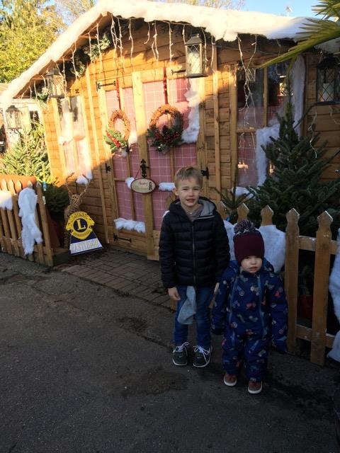 Eastleigh Lions Brambridge garden centre with Santa