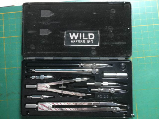 My set of Swiss Drawing Instruments - image supplied by Graham MacLean