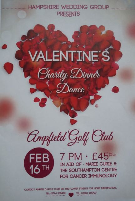 Valentine's Charity Dinner Dance in aid of Marie Curie and the Southampton Centre for Cancer Immunology