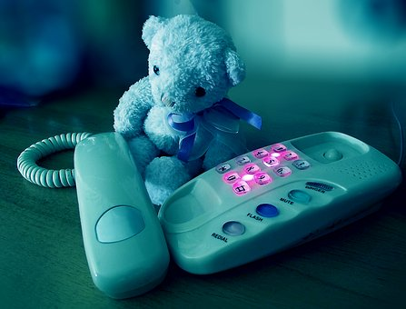 Did someone get fed up with a phone menu queue and leave their teddy in charge - image via Pixabay
