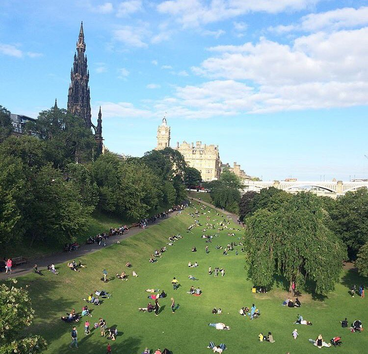 One view of Edinburgh. Image kindly supplied by Val Penny.