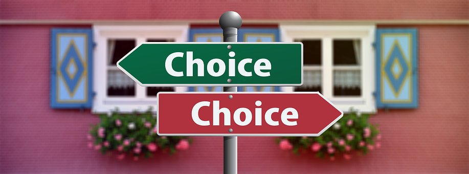 Decisions, decisions - image via Pixabay