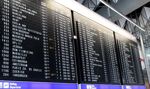 Departure boards - fine as long as they're accurate. Problem is they sometimes aren't! Image via Pixabay