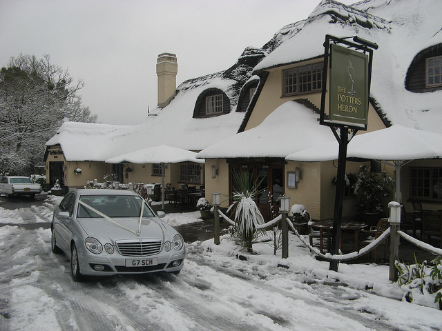 Potters Heron Hotel, 2013. Image by Nick Young, Southampton Chauffeur Hire.