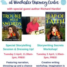 Local Author News - Richard Hardie - Winchester Discovery Centre - Easter 2018. Image kindly supplied via Richard Hardie