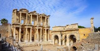 The ruins at Ephesus - image via Pixabay