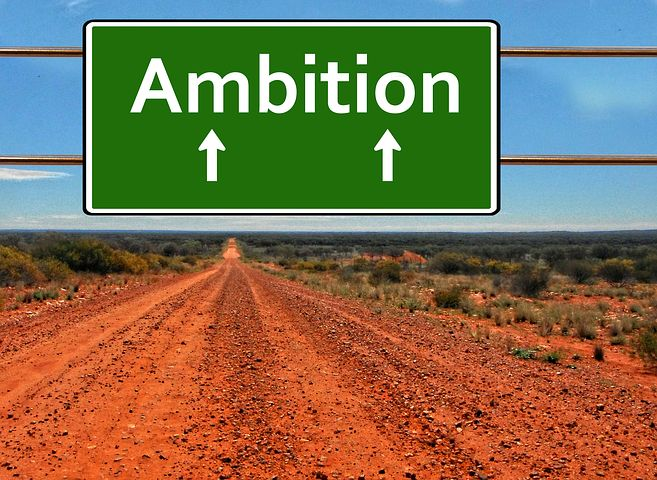 Ambition is not the same thing as talent or being famous on merit. Image via Pixabay