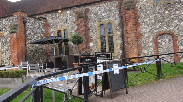 The Mill pub in Salisbury, has been closed as part of police investigations.