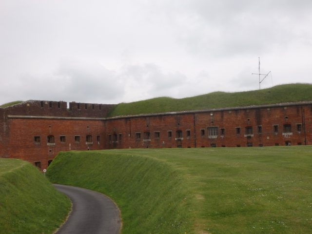 Some of the 12 million bricks used to construct Fort Nelson