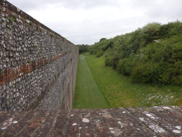 Moat at Fort Nelson