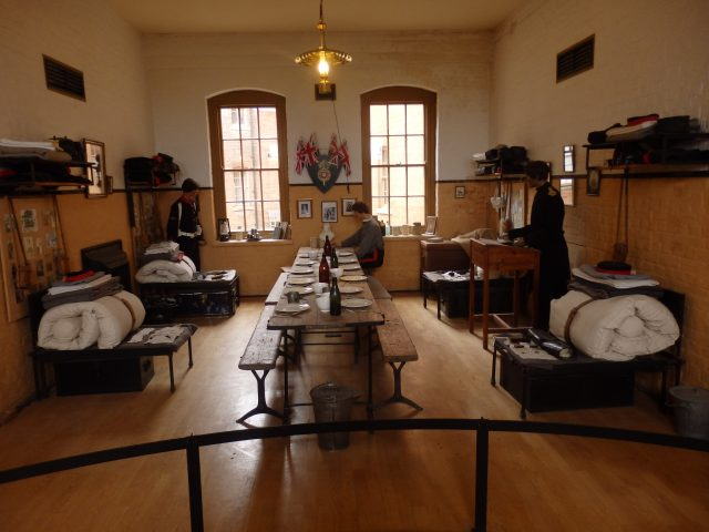 How the Officers Mess at Fort Nelson might have looked