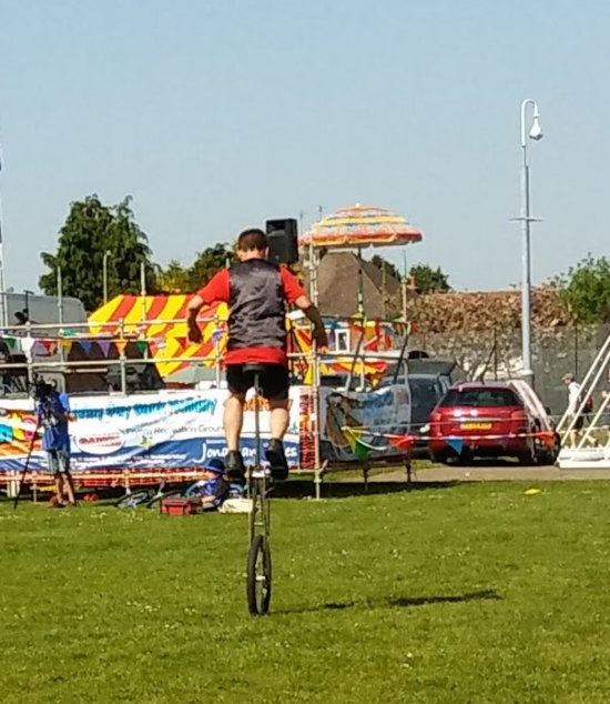 Salisbury Community Circus - unicycling