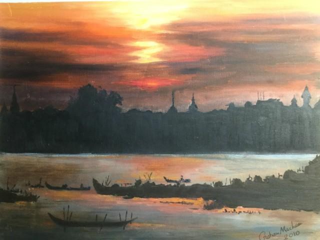 The Mekong River At Phnom Penh Cambodia