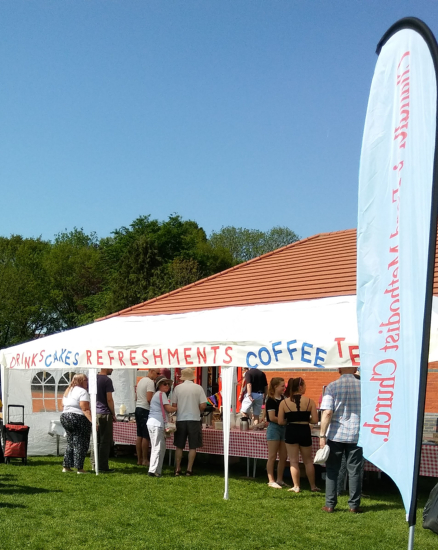 The ever popular refreshment tent