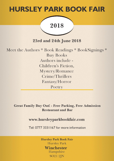 Book fair Flyer. Image kindly supplied by Glenn Salter.