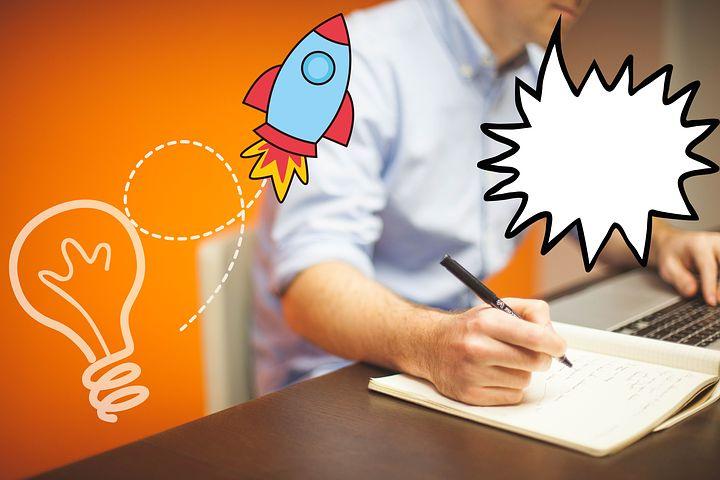 Generating the writing ideas maybe - image via Pixabay