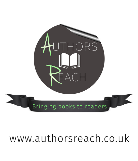 Authors Reach logo and ribbon. Image kindly supplied by Richard Hardie.