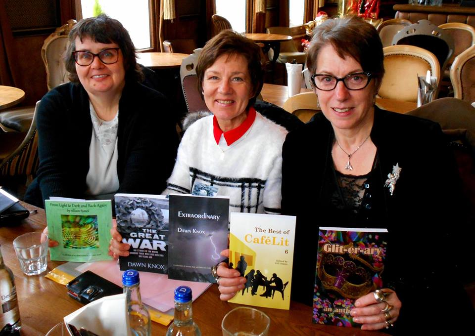 Paula Readman, Dawn Kentish Knox and Allison Symes and books - with kind permission from Paula Readman - Copy