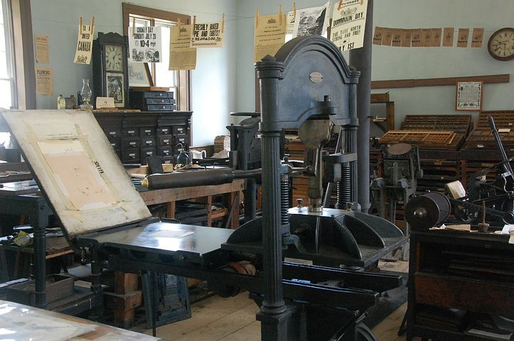 The printing press - image via Pixabay