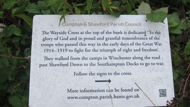 Compton and Shawford Parish Council sign