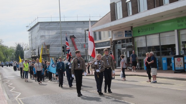 St. George's Day Parade Chandler's Ford, 22nd April 2018