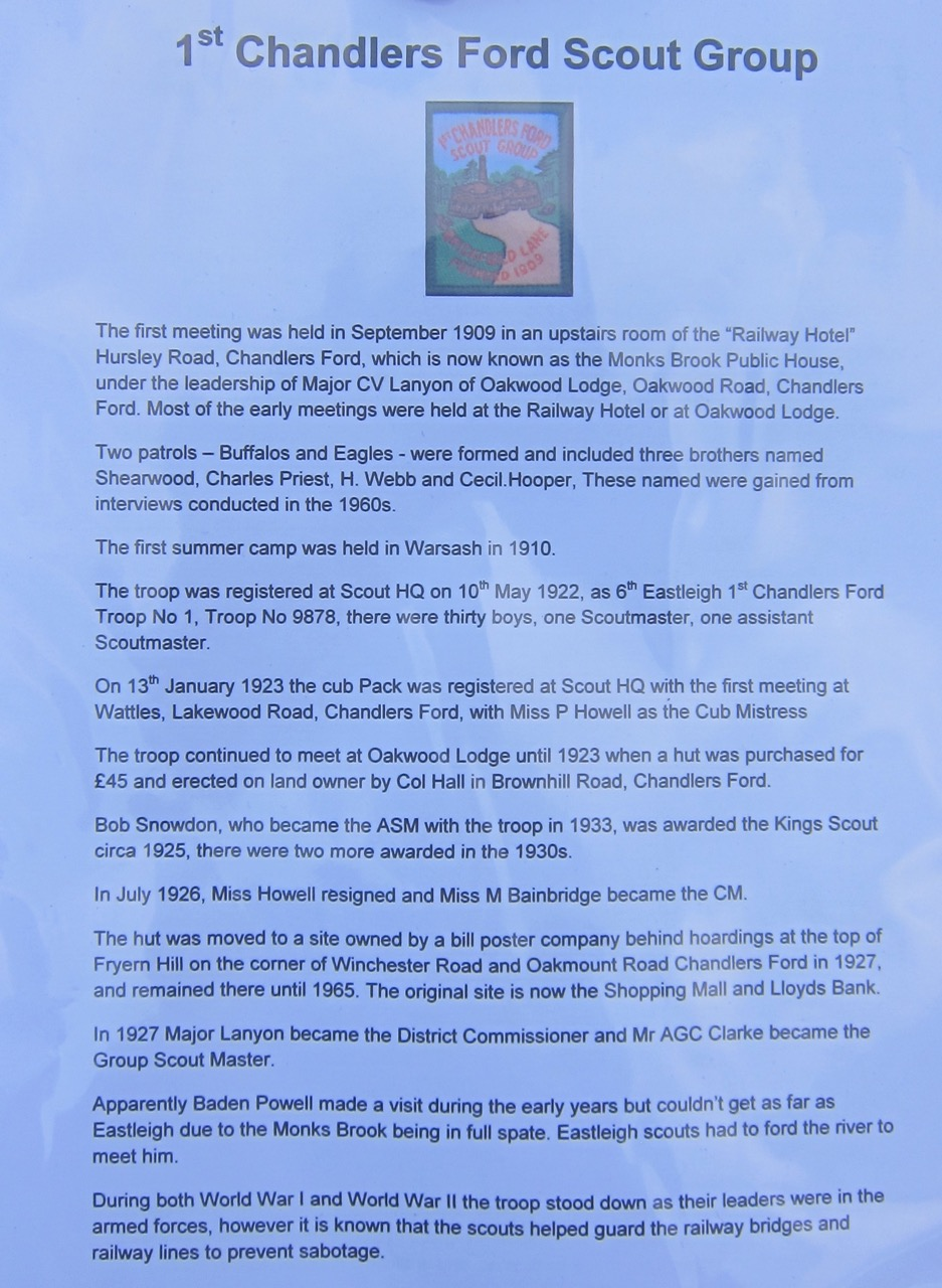History of 1st Chandler's Ford Scout Group