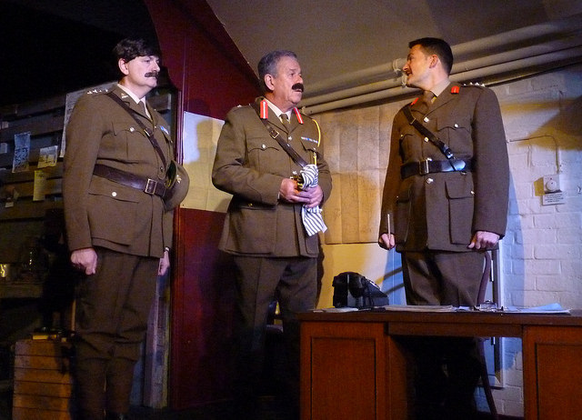 Blackadder is annoyed at the constant bad decisions made by General Melchett (Nick Coleman) and Captain Darling (Jon Duke).