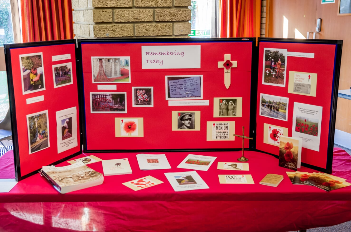 A display of remembrance at the book launch. Image credit: Debbie Pearce Photography