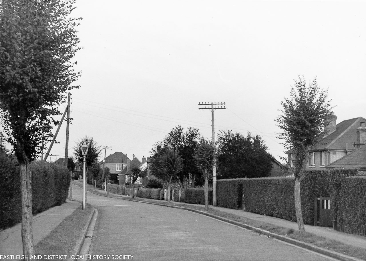A road in Chandler's Ford. Image credit: Eastleigh and District Local History Society