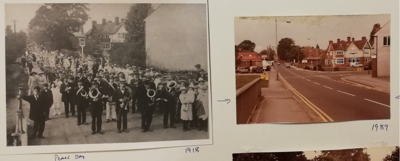 Peace Day 1918 - Hursley Road in Chandler's Ford, and what it was like in 1989.