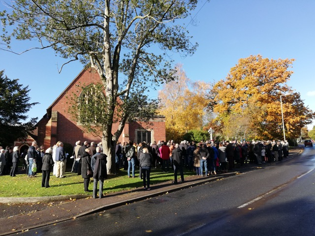 Beautiful blue skies ahead of the remembrance service in Chandler's Ford.
