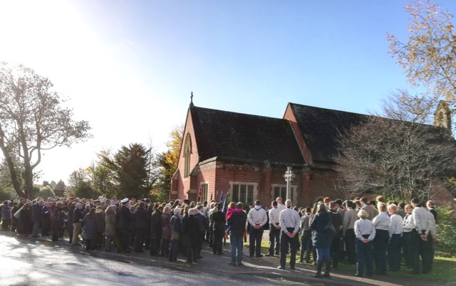 Remembrance Sunday at Chandler's Ford War Memorial 2018: hundreds gathered to pay respects.