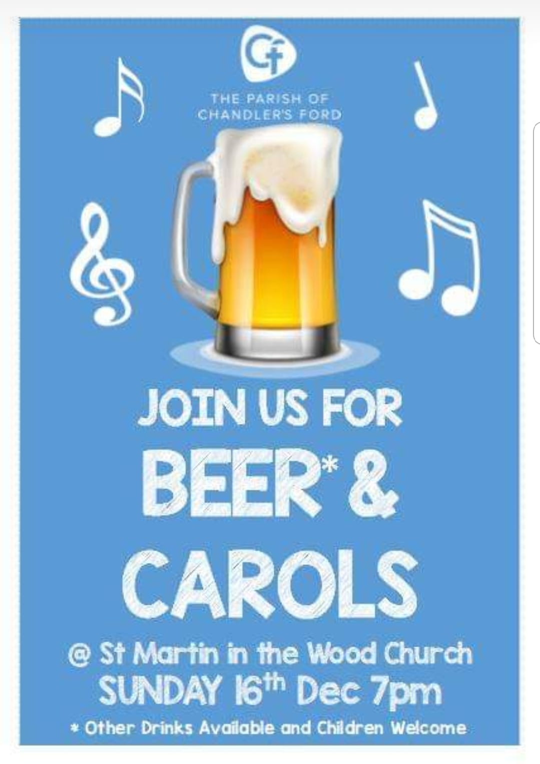 Beer and Carol at St. Martin in the Wood Church