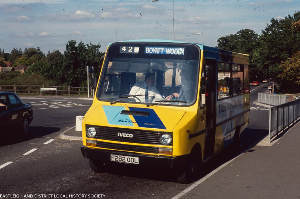 Byatt Wood bus. Image credit: Eastleigh and District Local History Society