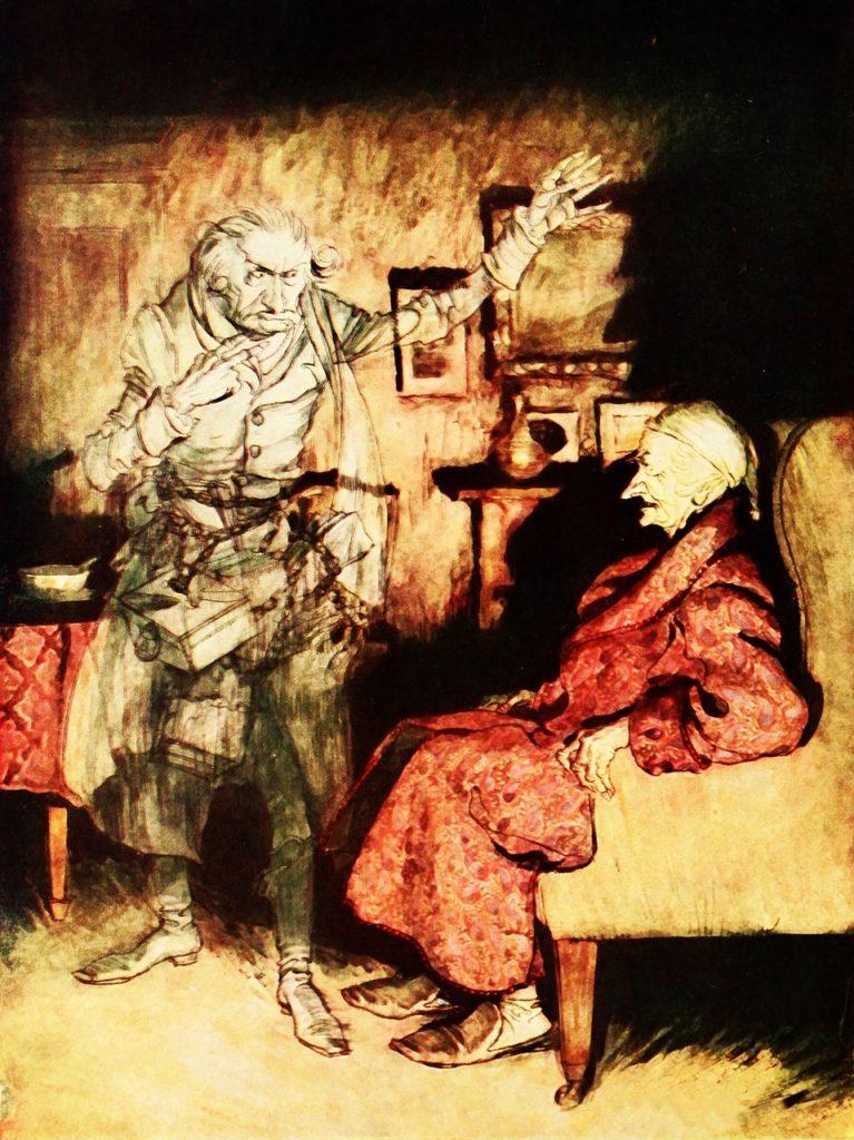 Jacob Marley comes back to visit Scrooge - Pixabay